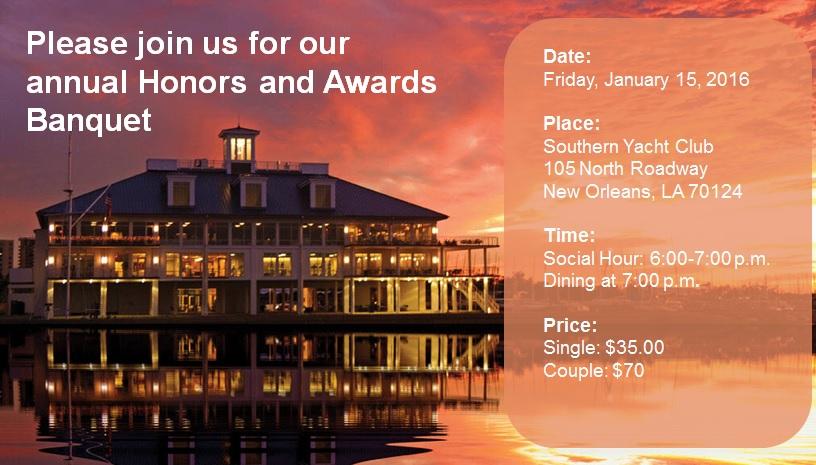 ISA 2016 Honors & Awards Banquet Banner