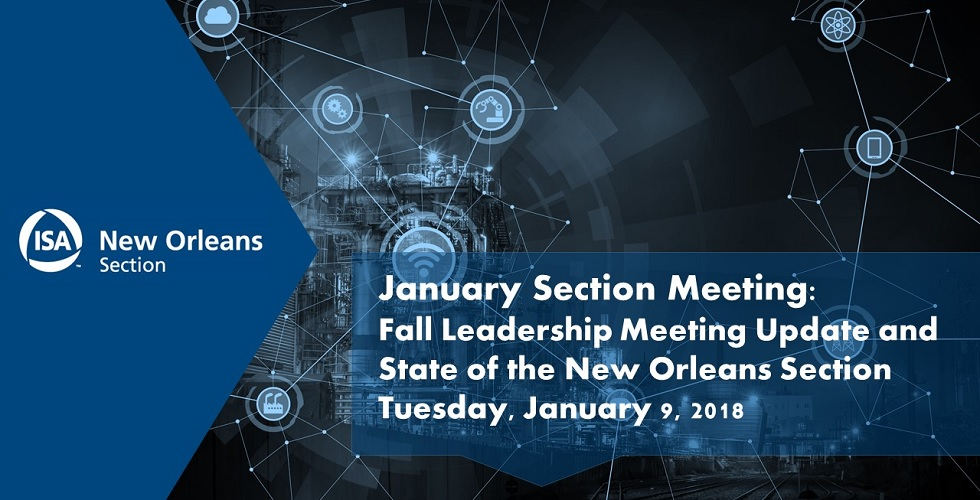 January 2018 Section Meeting |
